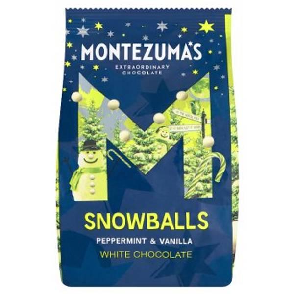 Bilde av Snowballs - hvit sjokolade medpeppermynte & vanilje, 150g / Mont