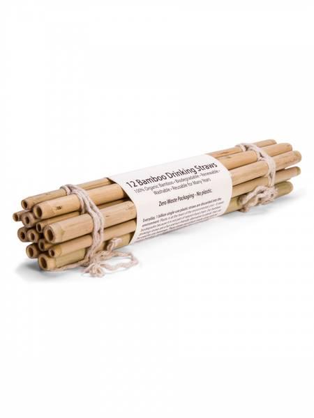 Bilde av 12-pk bambussugerør i økologisk bambus