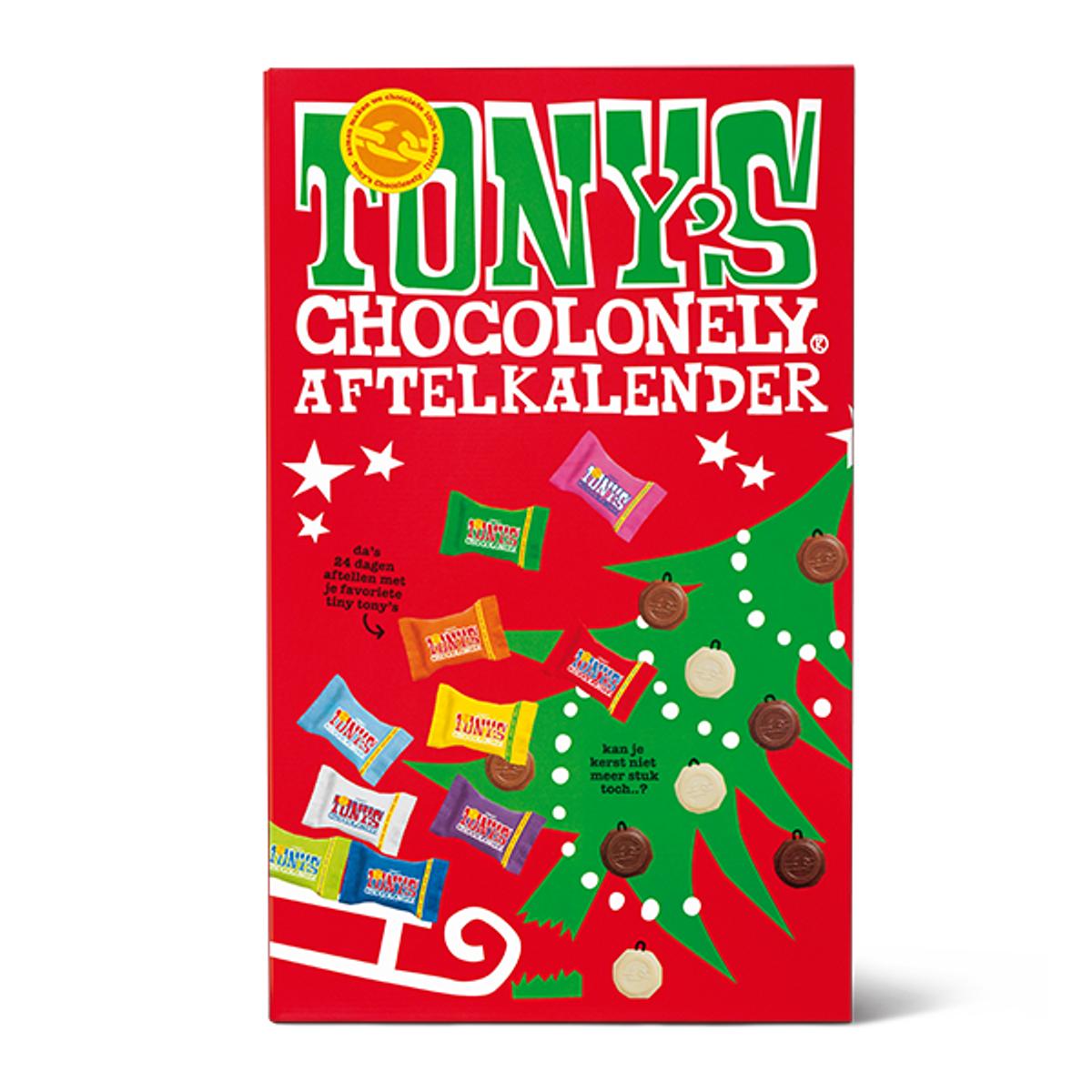 Big Tiny Christmas Calendar 225g /Tony's Chocolonely