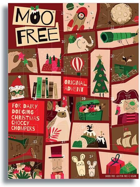 Bilde av Melkefri sjokoladekalender til barn 70g / MooFree