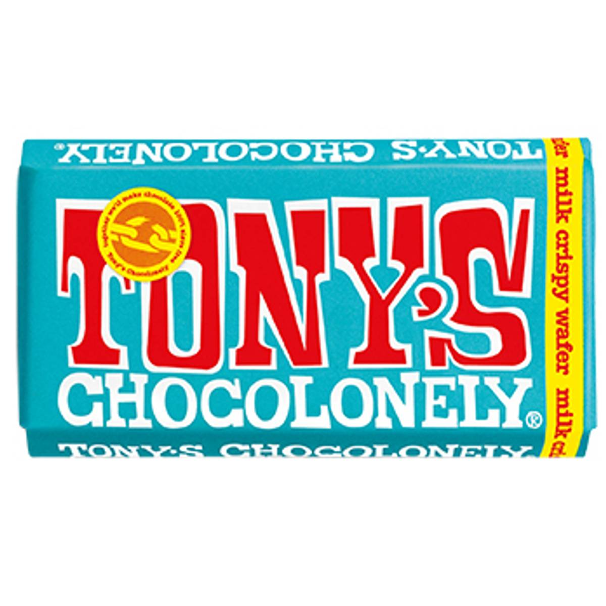 Crispy Wafer melkesjokolade 180g, Fair Trade / Tony´s Chocolonel