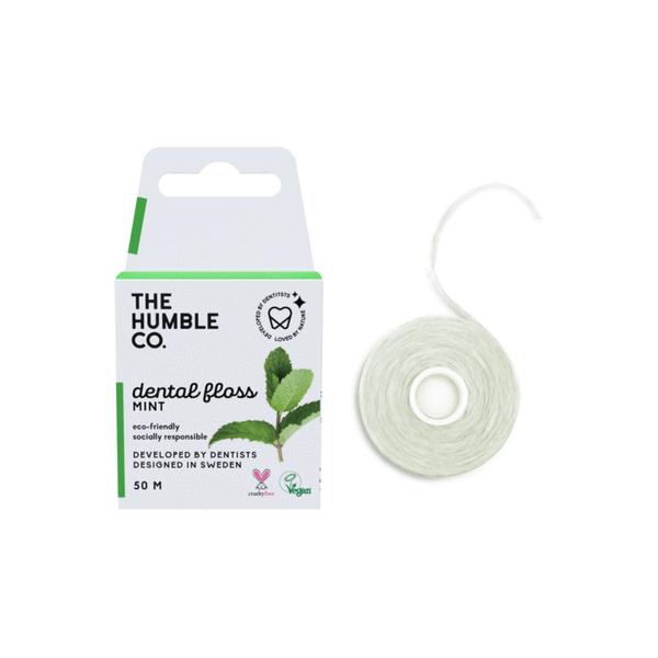 Bilde av  50 m vegansk tanntråd Fresh Mint / The Humble Co.