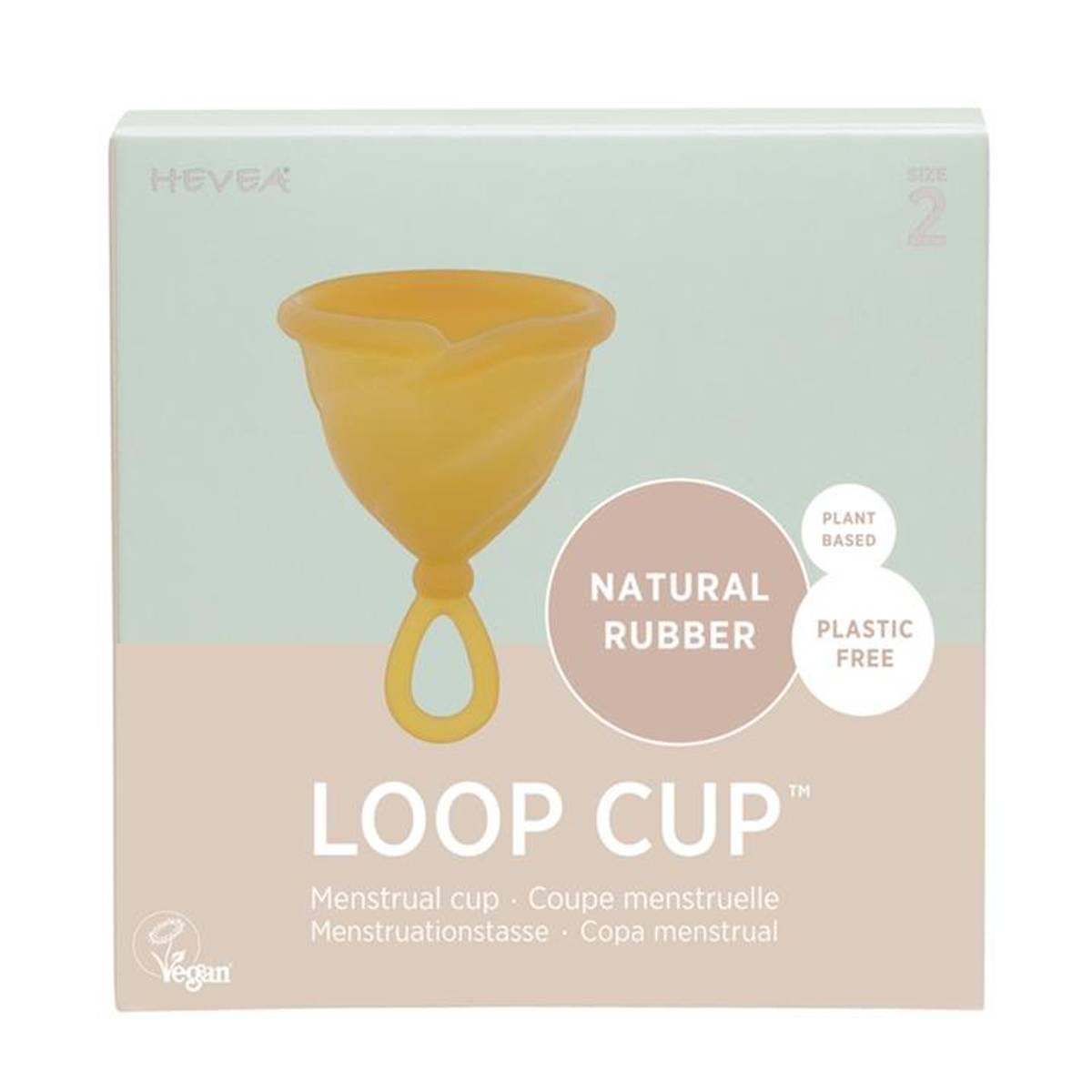 LOOP CUP str.2, menskopp i naturgummi / Hevea