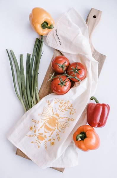 Bilde av Kjøkkenhåndkle i økologisk bomull, BIE / Your Green Kitchen