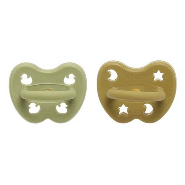Bilde av 2-pk Ortodontisk smokk 3-36 mnd, Hunter Green&Olive / Hevea
