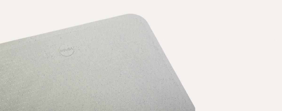 Badematte i naturgummi, Granit / Hevea