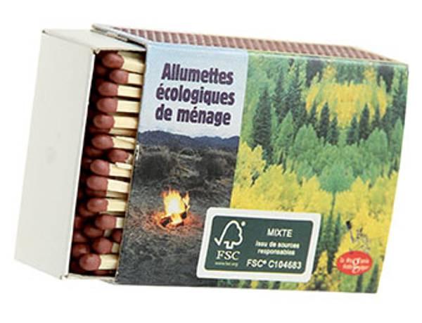 Bilde av 4-pk fyrstikker, FSC-sertifiserte / La droguerie écologique®