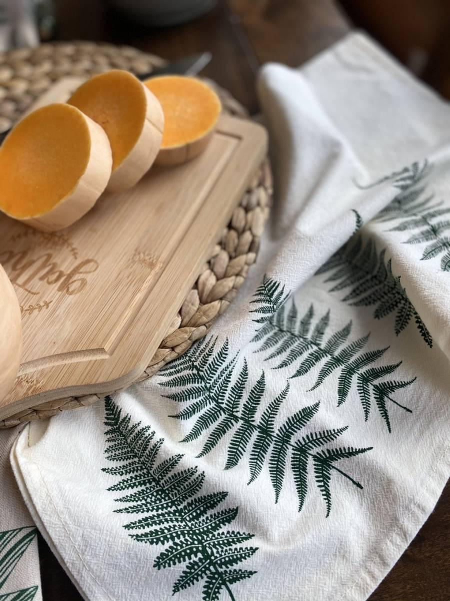 Kjøkkenhåndkle i økologisk bomull, FERN / Your Green Kitchen
