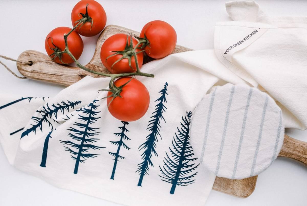 Kjøkkenhåndkle i økologisk bomull, TREES / Your Green Kitchen