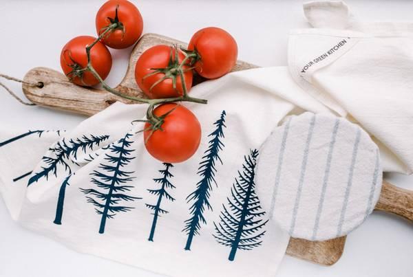 Bilde av Kjøkkenhåndkle i økologisk bomull, TREES / Your Green Kitchen