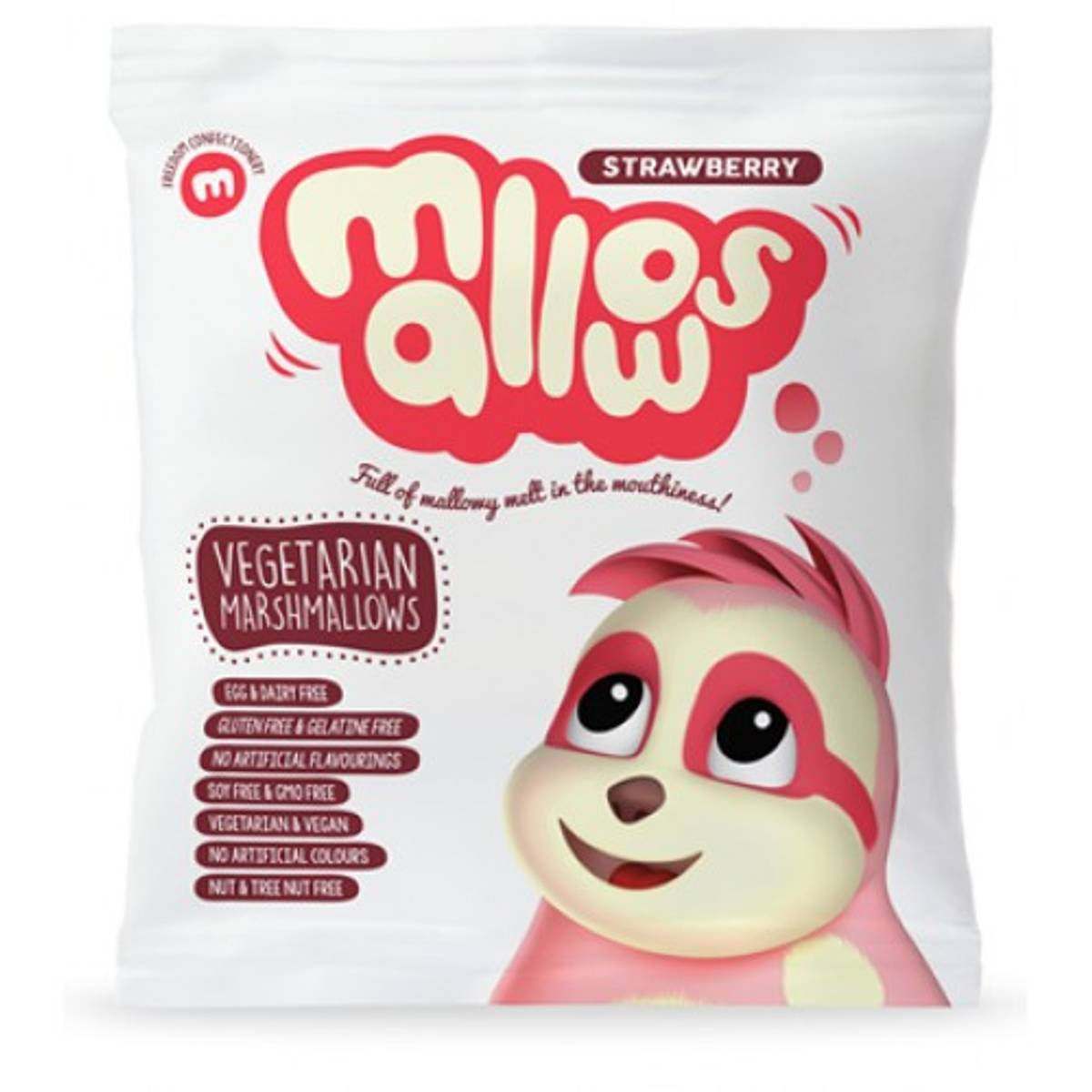 Jordbær marshmallows 75 g / Mallows
