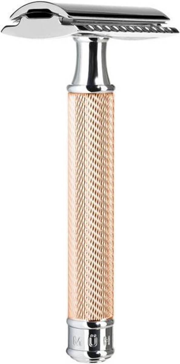 Mühle R89 barberhøvel i stål, Rose Gold