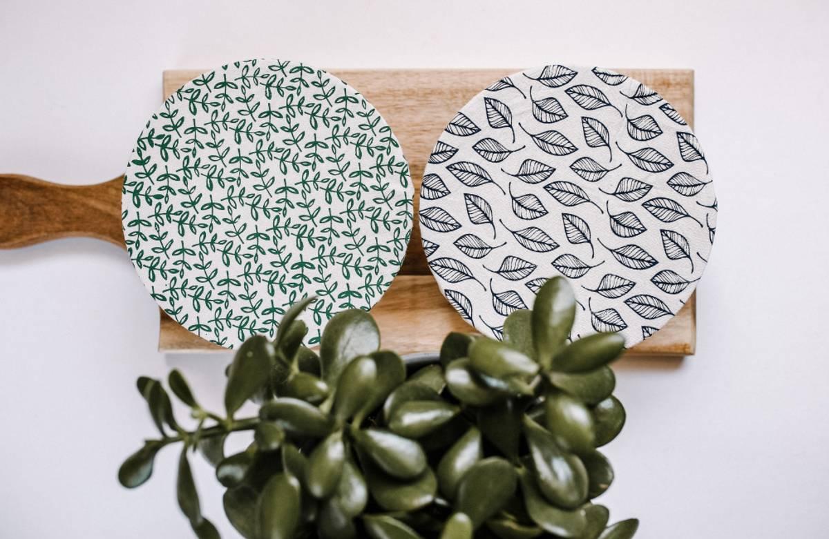 2-pk vokset bolletrekk str. S, Leafy / Your Green Kitchen