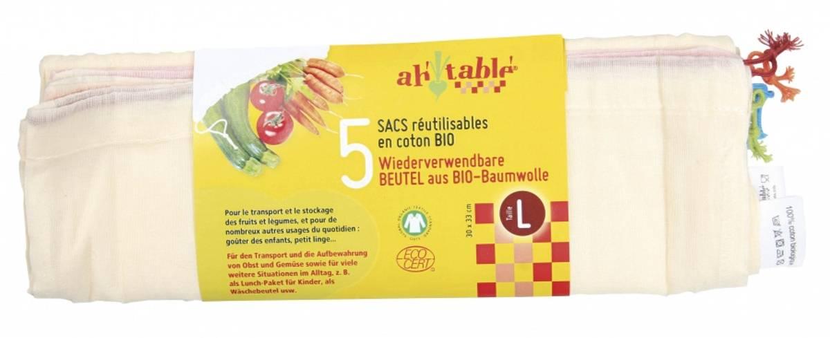 3-pk økologiske gasposer str. XL/ Ahtablé
