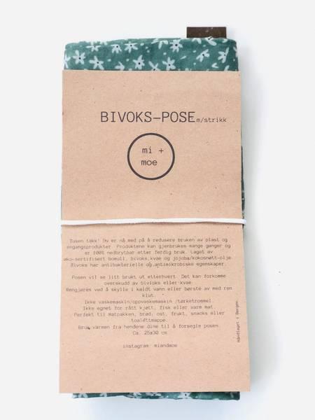 Bilde av Bivokspose med strikk, Blomster / Mi + Moe
