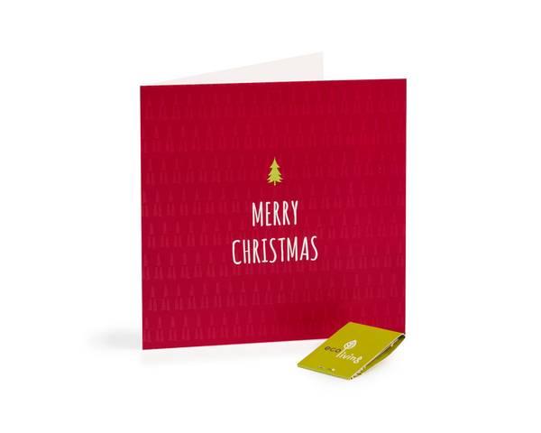 Bilde av Merry Christmas resirkulert julekort m/konvolutt