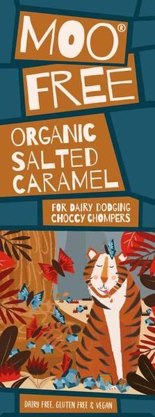 Bilde av Salt karamell melkefri sjokolade 80g / Moo Free