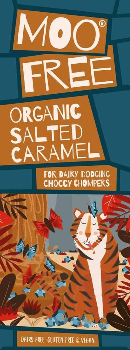 Salt karamell melkefri sjokolade 80g / Moo Free