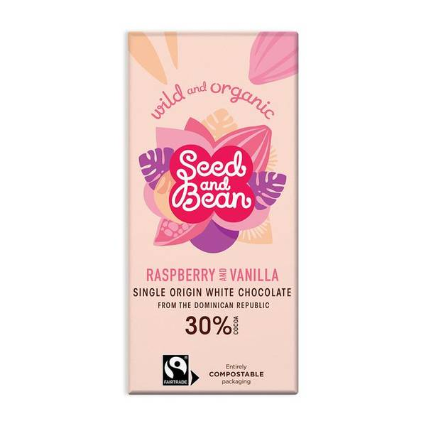 Bilde av Raspberry & Vanilla, 85g / Seed & Bean