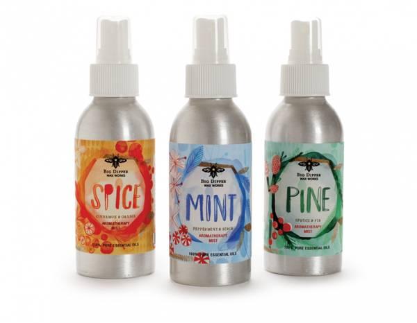 Bilde av MINT duftspray med eteriske oljer, Peppermynte & Bjørk, 118ml /