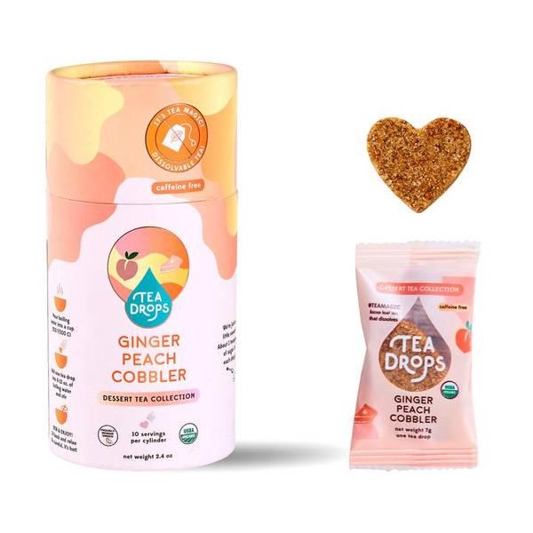 Bilde av 10 stk Ginger Peach Cobbler, økologisk te i tube / Tea Drops