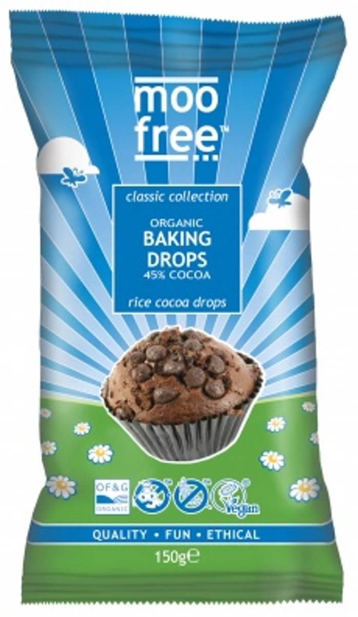 Veganske sjokoladebiter til baking 150g / Moo Free Chocolates