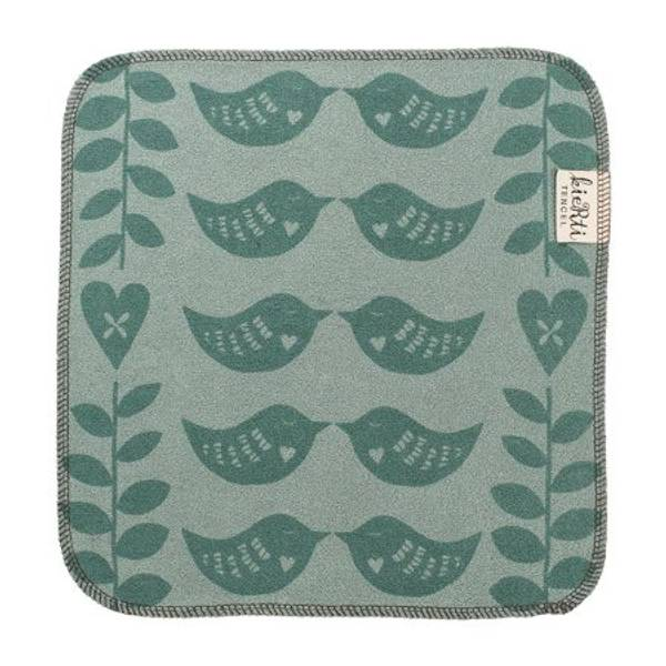 Bilde av Kjøkkenklut i tencel, Hjertefugl grønn / Kierti